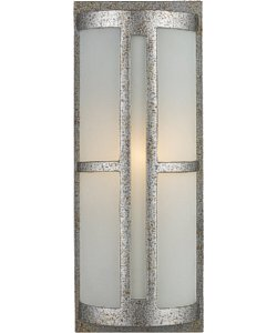 Elk Lighting Trevot 1-Light Outdoor Wall Mount Sunset Silver with Translucent Glass 420951