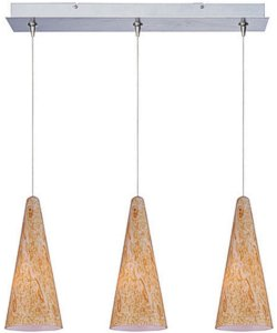 ET2 Minx Xenon 3-Light Linear Pendant Satin Nickel E94830103SN