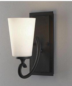 Home Solutions Peyton One Light Vanity Black VS16501BK